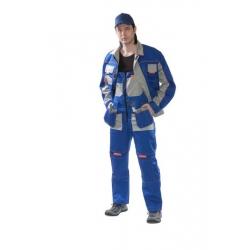 Летний костюм рабочий (куртка и полукомбинезон) БРЕНД синий/серый