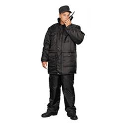 Костюм рабочий черный утепленный «Охранник»