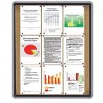 Доска-витрина NOBO пробк. 81,5*98*4,5см, глуб.1см, д/внутр.прим., на 9л.А4, 1900842(ACCO Brands,США)