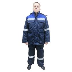 Утепленный рабочий костюм Буревестник с курткой и полукомбинезоном